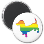 Gay Pride Dachshund/Wiener Refrigerator Magnets