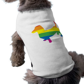 Gay Pride Dachshund/Wiener Sleeveless Dog Shirt