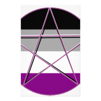 Gay Pride Demi Pan Goddess Symbol Stationery Paper