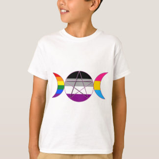 Gay Pride Demi Pan Goddess Symbol T-Shirt