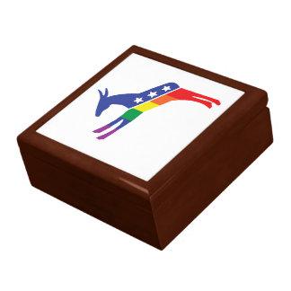 Gay Pride Democrat Donkey Gift Box