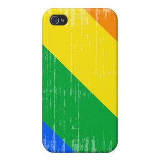 GAY PRIDE DIAGONAL DISTRESSED DESIGN iPhone 4/4S COVERS