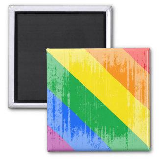 GAY PRIDE DIAGONAL DISTRESSED DESIGN REFRIGERATOR MAGNETS