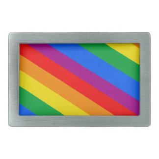 GAY PRIDE DIAGONAL PATTERN BELT BUCKLE