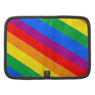 GAY PRIDE DIAGONAL PATTERN FOLIO PLANNER