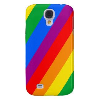 GAY PRIDE DIAGONAL PATTERN GALAXY S4 COVER