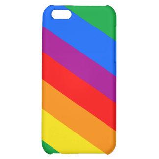 GAY PRIDE DIAGONAL PATTERN iPhone 5C CASE