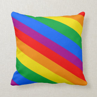 GAY PRIDE DIAGONAL PATTERN THROW PILLOW