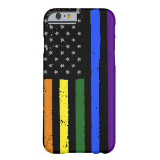 gay pride distressed american flag barely there iPhone 6 case