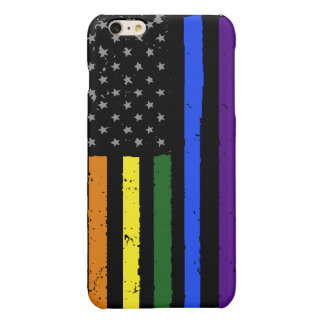 gay pride distressed american flag iPhone 6 plus case