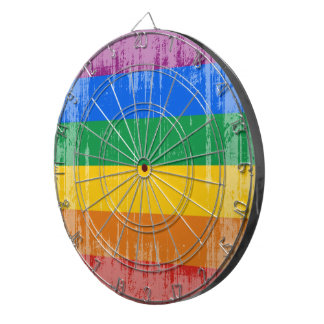 GAY PRIDE DISTRESSED DESIGN DART BOARD