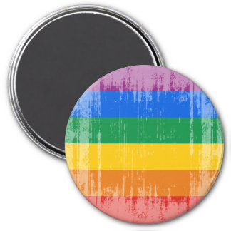 GAY PRIDE DISTRESSED DESIGN FRIDGE MAGNET