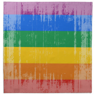 GAY PRIDE DISTRESSED DESIGN PRINTED NAPKINS