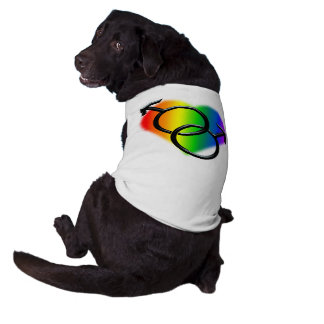 Gay Pride Dog Shirt Rainbow Love LGBT Dog T-shirt