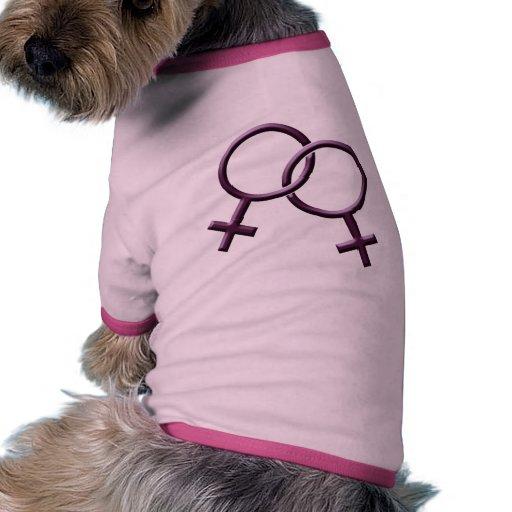 Gay Pride Dog Shirt Same-Sex Love Dog T-shirt