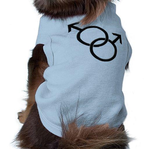 Gay Pride Dog Shirt Same-Sex Love LGBT Dog T-shirt