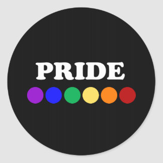 Gay Pride Dot Stickers