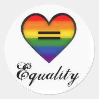 Gay Pride Equality Rainbow Heart Sticker