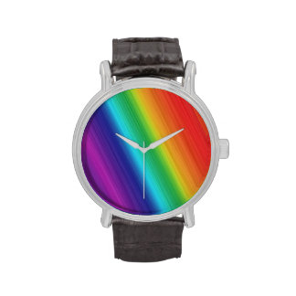 GAY PRIDE FADE LINES DIAGONAL -.png Wristwatches