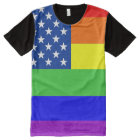 Gay Pride Flag All-Over Print T-Shirt