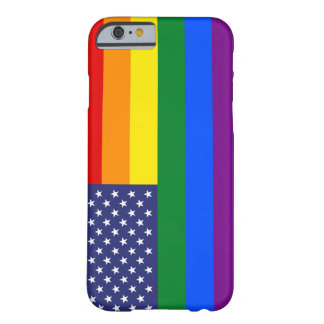 """GAY PRIDE FLAG"" BARELY THERE iPhone 6 CASE"