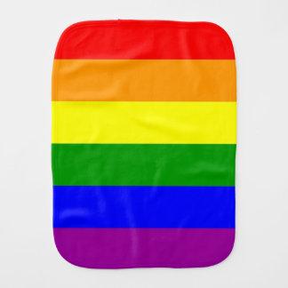 Gay Pride Flag Baby Burp Cloths