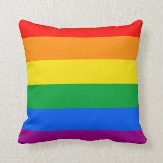 GAY PRIDE FLAG CUSHION
