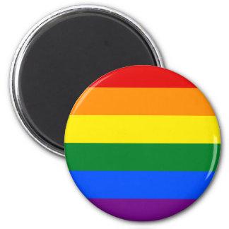 Gay Pride Flag Design 6 Cm Round Magnet