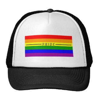 Gay Pride Flag Mesh Hat