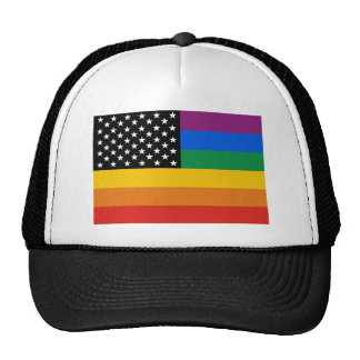 Gay Pride Flag Mesh Hats