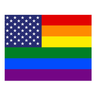 """GAY PRIDE FLAG"" POSTCARD"