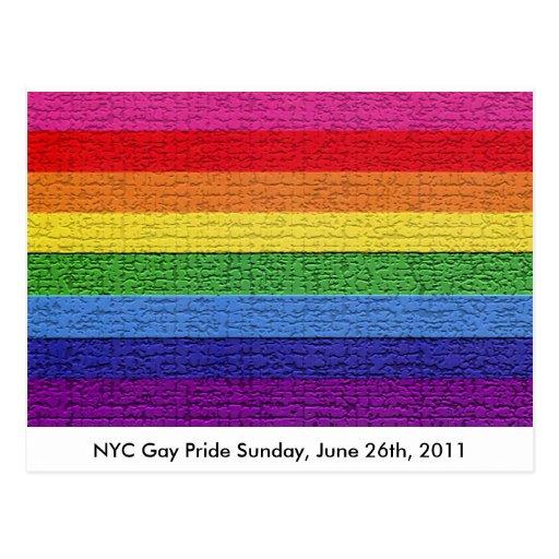 Gay Pride Flag Post Card