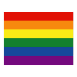 Gay pride Flag Postcard