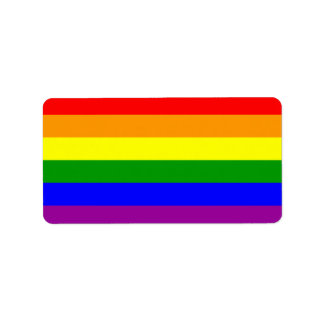 Gay Pride Flag / Rainbow Flag Address Label