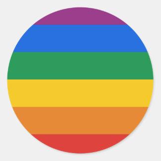 Gay Pride Flag Round Sticker