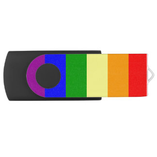 Gay Pride Flag Swivel USB 2.0 Flash Drive