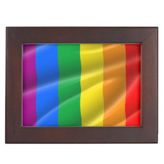 GAY PRIDE FLAG WAVY DESIGN - 2014 PRIDE KEEPSAKE BOX