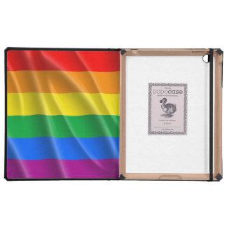 GAY PRIDE FLAG WAVY DESIGN - 2014 PRIDE.png iPad Case