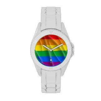 GAY PRIDE FLAG WAVY DESIGN - 2014 PRIDE WRISTWATCHES
