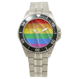 GAY PRIDE FLAG WAVY DESIGN - 2014 PRIDE WRIST WATCHES