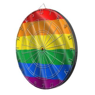 GAY PRIDE FLAG WAVY DESIGN DARTBOARD
