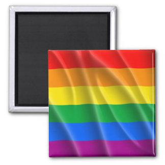 GAY PRIDE FLAG WAVY DESIGN REFRIGERATOR MAGNET