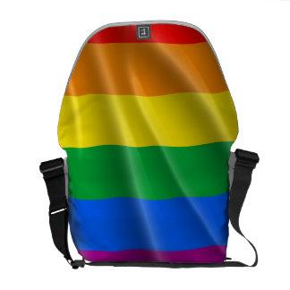 GAY PRIDE FLAG WAVY DESIGN MESSENGER BAG