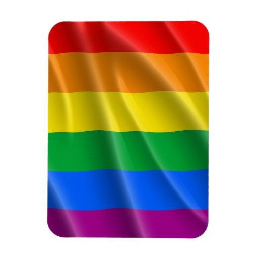GAY PRIDE FLAG WAVY DESIGN VINYL MAGNET