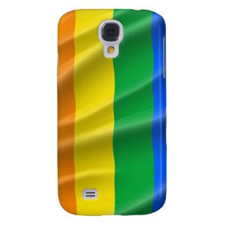 GAY PRIDE FLAG WAVY DESIGN SAMSUNG GALAXY S4 CASES