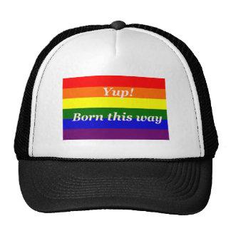 GAY Pride Hat - Rainbow flag born this way