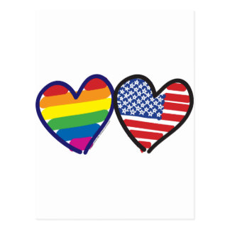 GAY-PRIDE-HEART-AND-FLAG POSTCARD
