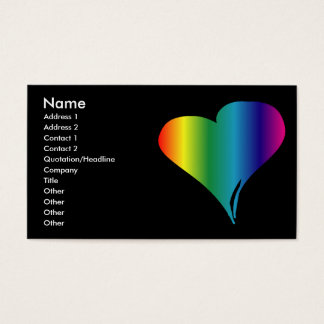 Gay Pride Heart Business Card