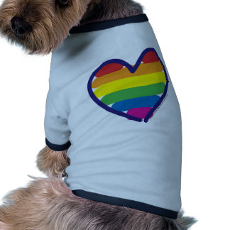 GAY-PRIDE-HEART-In-catneato Pet Tee