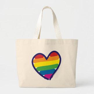 GAY-PRIDE-HEART-In-catneato Jumbo Tote Bag